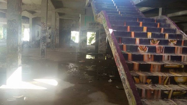 Stepenice vode na 2. kat