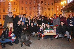 06.12.2015., Zagreb - Tradicionalna ceremonija na Trgu bana Jelacica u povodu zidovskog blagdana Hanuke. Rabin Pinchas Zaklas. Photo: Tomislav Miletic/PIXSELL