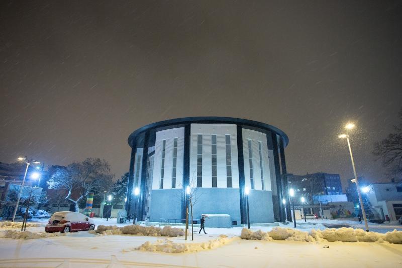 09.02.2015., Zagreb - Francuski paviljon u dvoristu Studentskog centra. Photo: Davor Puklavec/PIXSELL