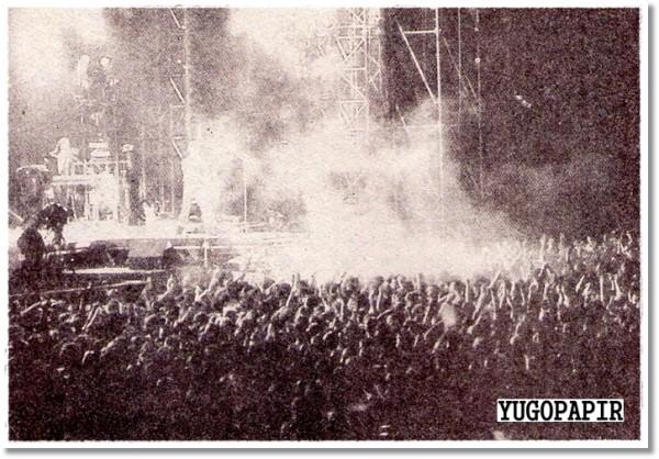 (Nevidljivi) Bowie na Maksimiru 1990. godine (foto: Vojo Sekulić)