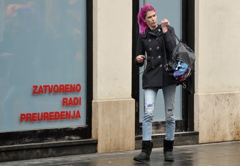 17.02.2016., Zagreb - Manekenka Kristina Salinovic prosetala gradom. Photo: Marko Lukunic/PIXSELL
