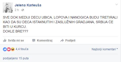 Jelena Karleuša/Facebook