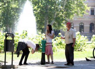 zagreb ljeto vrućina park fontana