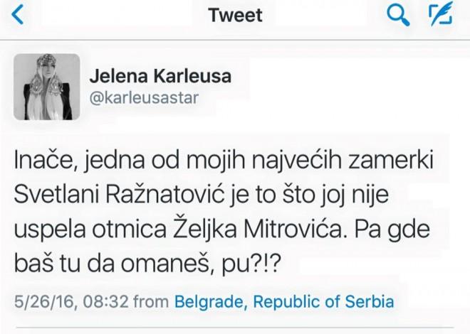 Jelena Karleuša/Twitter