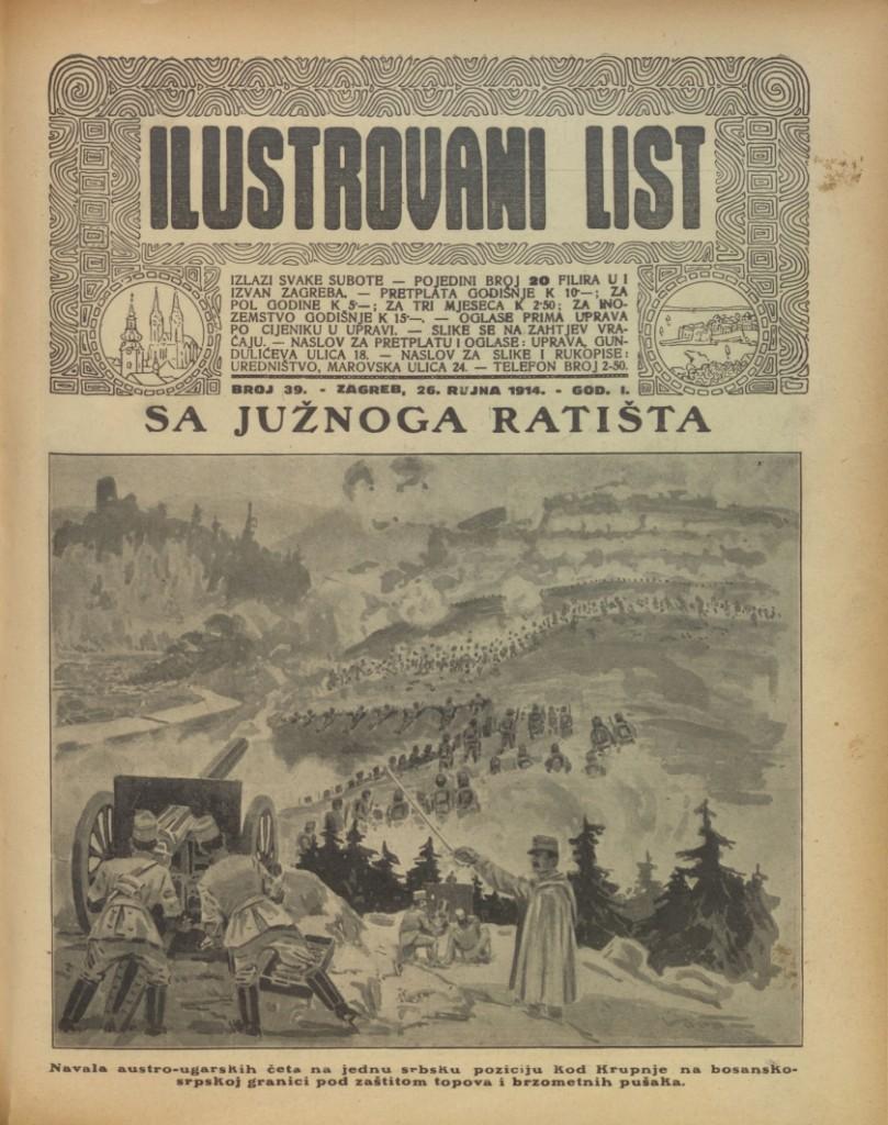 Izvjesca S Ratista Kako Su Zagrebacke Novine Izvjestavale O Prvom
