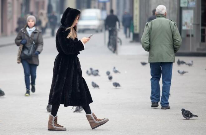 23.01.2017., Zagreb - Prolaznike sredistem grada jutros je docekala temperatura od minus osam stupnjeva Celzijevih. Photo: Sanjin Strukic/PIXSELL