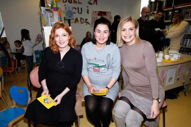 Vanda Winter, Mirna Medakovic i Nevena Rendeli knjižnica