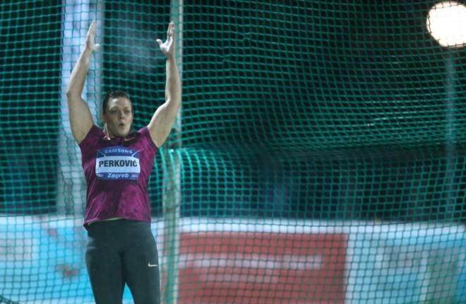 02.09.2014., Mladost na Savi, Zagreb - IAAF World Challenge Zagreb, 64. memorijal Borisa Hanzekovica, disk, zene. Sandra Perkovic. Photo: Sanjin Strukic/PIXSELL
