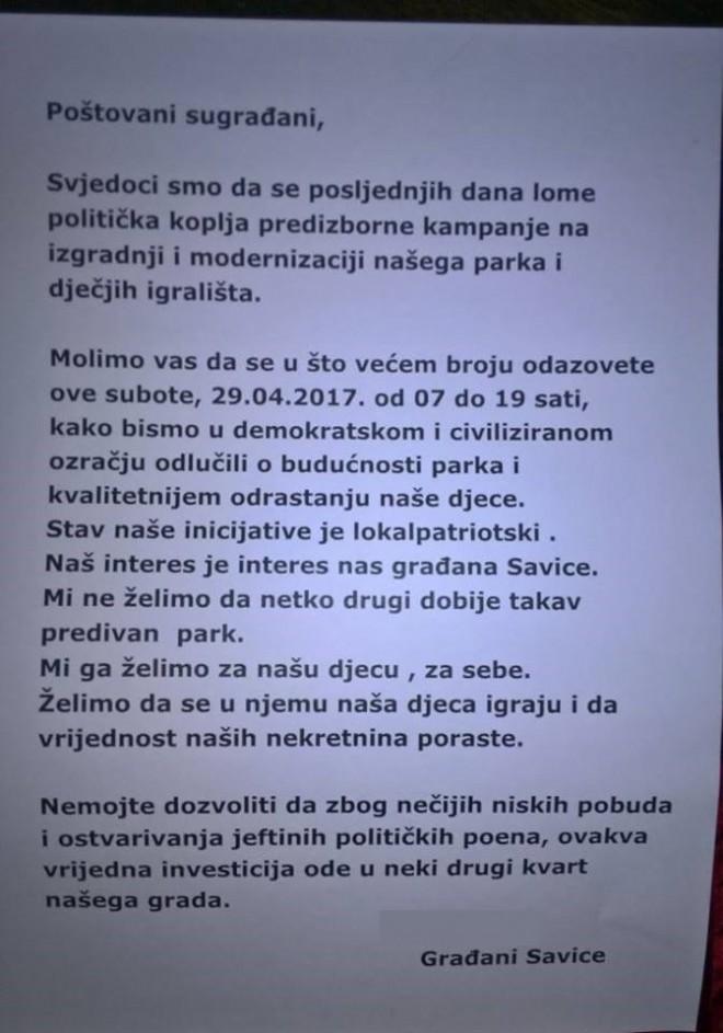 FOTO: Facebook/ Savica ZA park