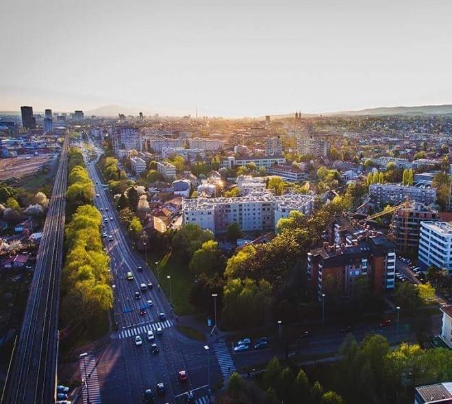 Branimirova - Zagreb from above