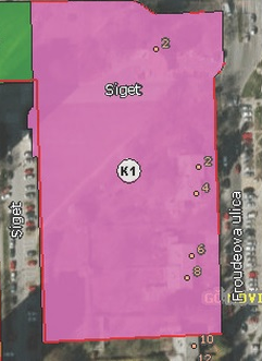 Čestica na kojoj se navodno neće graditi poslovni kompleks. Izvor: Geoportal.