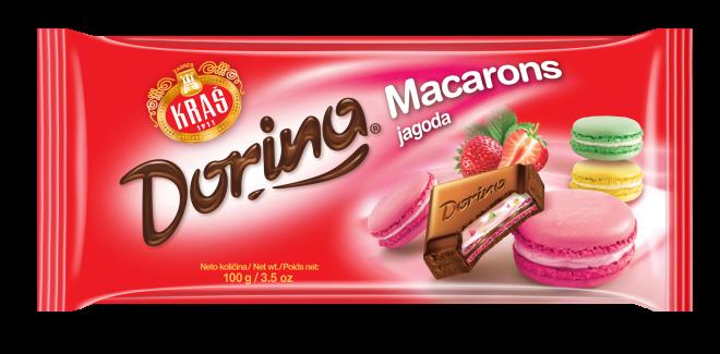 Dorina Macarons jagoda 100g