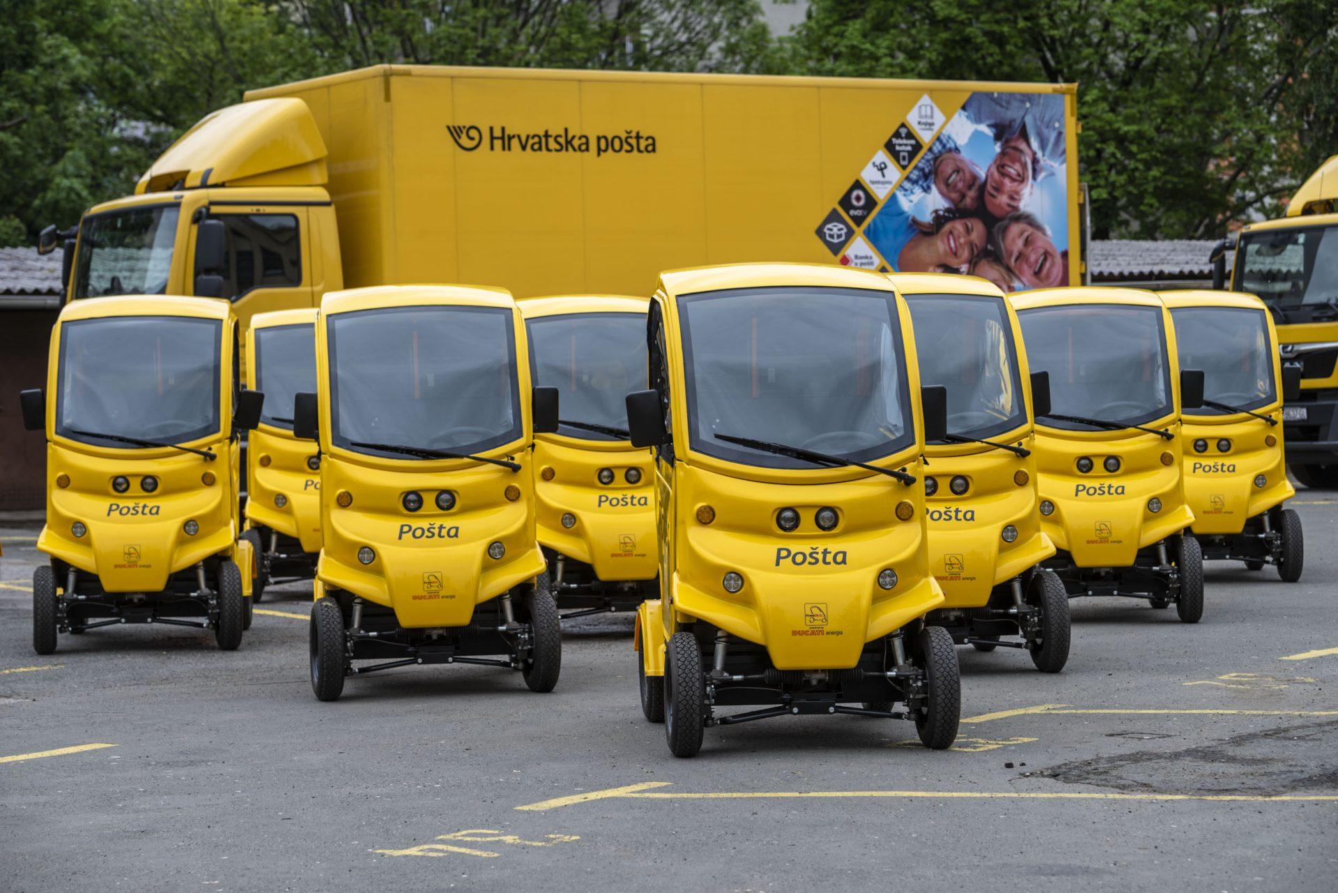 Hrvatska Pošta Zazelenila Vozni Park Novim Vozilima Paketi će Vam